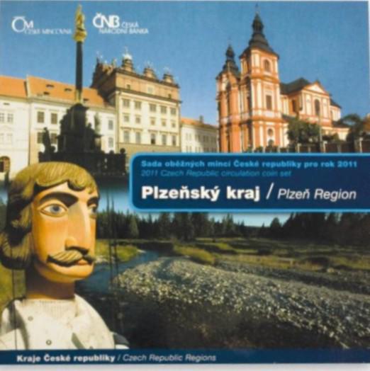 Sada oběžných mincí ČR 2011 Plzeňský kraj