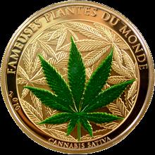 Pozlacená mince Konopí 2010 Proof Benin