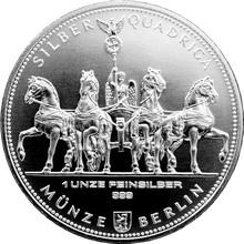 Stříbrná investiční mince Quadriga 1 Oz