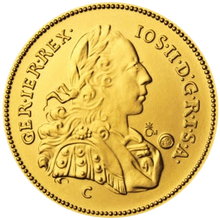 Replika dukátu Josefa II. 2012 Standard