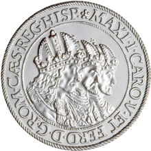 Replika stříbrného tolaru tří císařů 2008 Standard