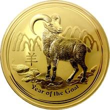 Zlatá investiční mince Year of the Goat Rok Kozy Lunární 1 Kg 2015