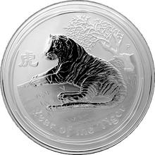 Stříbrná investiční mince Year of the Tiger Rok Tygra Lunární 1 Kg 2010