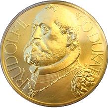 Zlatá medaile 100 Dukát Rudolf II. 2009 Standard
