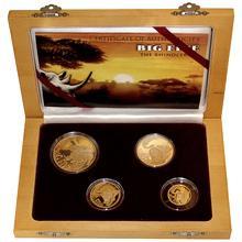 Nosorožci Big Five Sada zlatých mincí 2013 Proof