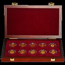 Sada Desať storočí architektúry 10 zlatých mincí 2001 - 2005 Štandard