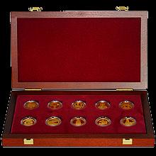 Sada Kulturne pamiatky technického dedičstva 10 zlatých mincí 2006 - 2010 Proof