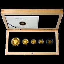 Maple Leaf 5. výročie Stokilové zlatá minca Sada zlatých mincí 2012 Proof (.99999)