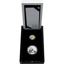 Panda Prestižní sada zlaté a stříbrné mince Diamond Edition 2015 Proof