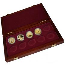 Sada 4 zlatých mincí Mosty České republiky 2011 - 2012 Proof