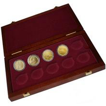 Sada 4 zlatých mincí Mosty České republiky 2011 - 2012 Standard