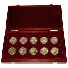 Sada 10 zlatých mincí Mosty České republiky 2011 - 2015 Standard