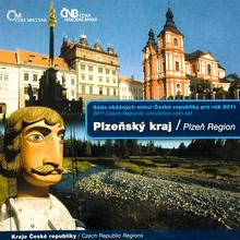 Sada oběžných mincí ČR 2011 Plzeňský kraj Standard