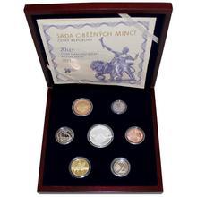Sada oběžných mincí 20 let ČNB a české měny 2013 Proof