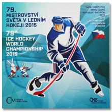 Sada oběžných mincí ČR MS v ledním hokeji 2015 Standard