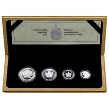 Maple Leaf 10. výročí Sada platinových mincí 1989 Proof