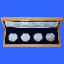 Sada stříbrných medailí Poslední Rožmberkové 2011 Proof
