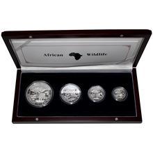African Wildlife Slon africký Sada stříbrných mincí 2012 Proof