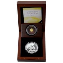 Stříbrná a zlatá mince The African Springbok Papež Jan Pavel II. 2015 Proof