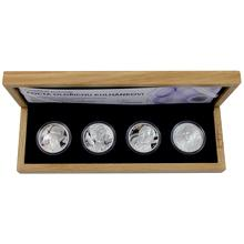Sada čtyř stříbrných medailí Pocta Oldřichu Kulhánkovi 2013 Proof