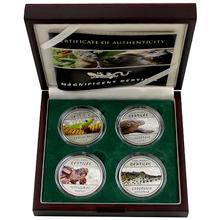 Magnificent Reptiles Sada stříbrných mincí 2013 Proof Kongo