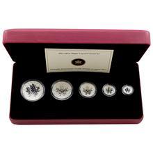 Sada stříbrných mincí Maple Leaf 25.výročí 2013 Proof (.9999)