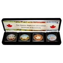 Maple Leaf Čtyři roční období Sada stříbrných mincí 2013 Standard