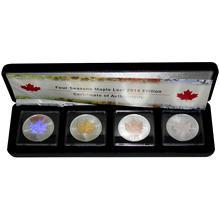 Maple Leaf Čtyři roční období Sada stříbrných mincí 2014 Standard (.9999)