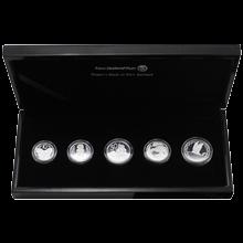 Sada stříbrných mincí Novozélandské oběžné mince 2011 Proof