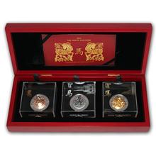 Sada stříbrných mincí Rok Koně 3D Panorama 2014 Standard