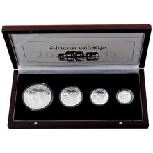African Wildlife Slon africký Sada stříbrných mincí 2015 Proof