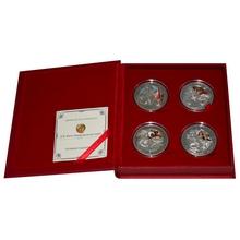 Tři mušketýři Sada stříbrných mincí 2009 Zirkon Proof