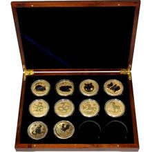 Luxusní sada 10 zlatých mincí 1 Oz Lunární série II. 2008 - 2019