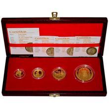 Sada zlatých medailí České dukáty 2008 Proof