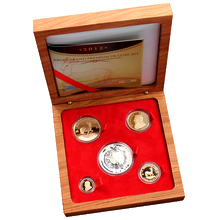 Krugerrand 2012 Výroční sada zlatých mincí Proof
