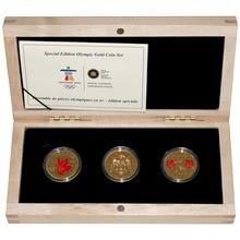 Maple Leaf - Olympijské hry Vancouver Sada zlatých minciach 2010 Proof
