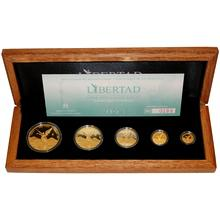 Mexiko Libertad Exkluzivní sada zlatých mincí 2013 Proof