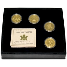 Původní kultury a tradice Kanady Raritní sada zlatých mincí 1997 - 2000 Proof