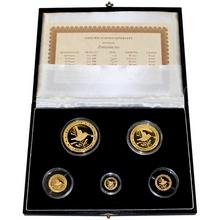 Zunzuncito Kolibřík Sada zlatých mincí 1999 Proof