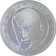 Stříbrná medaile Sigmund Freud 2009 Proof