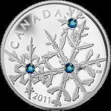 Stříbrná mince Sněhová vločka Montana 2011 Proof (.9999)