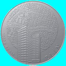Stříbrná investiční medaile 1 Kg Statutární města ČR - Zlín 2012 Standard