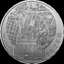 Stříbrná investiční medaile 500 g Statutární města ČR - Plzeň 2011 Standard