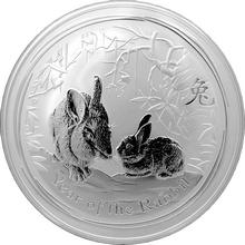 Stříbrná investiční mince Year of the Rabbit Rok Králíka Lunární 10 Oz 2011