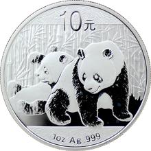 Stříbrná investiční mince Panda 1 Oz 2010