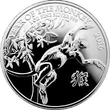 Stříbrná investiční mince Rok Opice Lunární The Royal Mint 1 Oz 2016