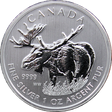 Stříbrná investiční mince Los Canadian Wildlife 1 Oz 2012