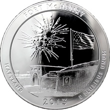 Stříbrná investiční mince America the Beautiful - Maryland 5 Oz 2013