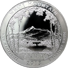 Stříbrná investiční mince America the Beautiful - New Hampshire 5 Oz 2013