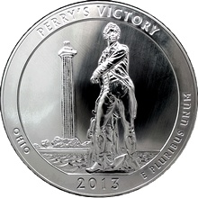 Stříbrná investiční mince America the Beautiful - Ohio 5 Oz 2013